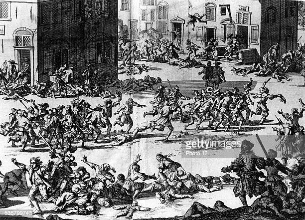 St Bartholomew's Day massacre The Huguenot being killed August 24 1572