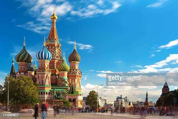 st. bashil's cathedral - russian culture stock pictures, royalty-free photos & images
