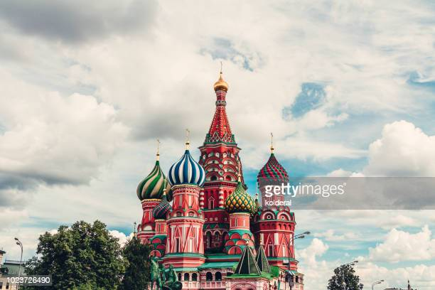 St Basil cathedral cupola in Moscow