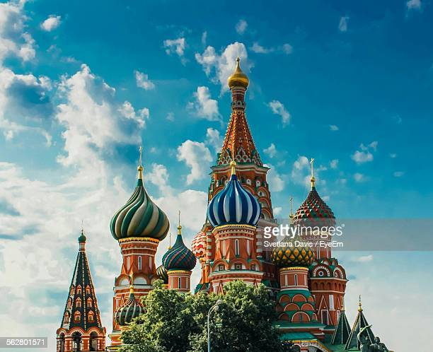 st basils cathedral against sky - moscow russia stock pictures, royalty-free photos & images