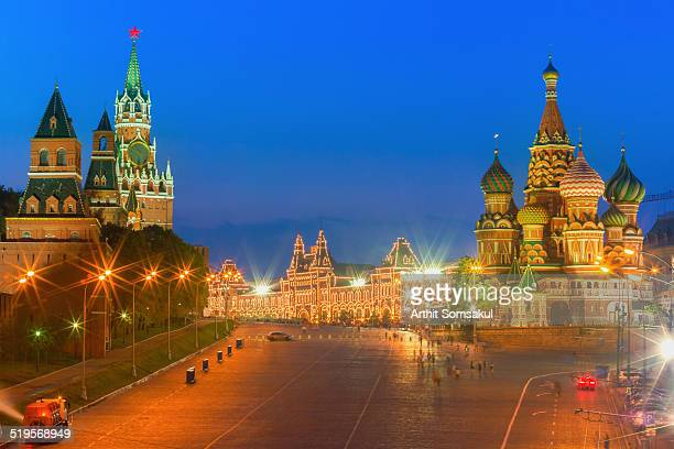 St. Basil's cathedral and Kremlin at night