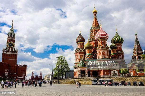 st basil's cathedral and the kremlin - paisajes de st thomas fotografías e imágenes de stock