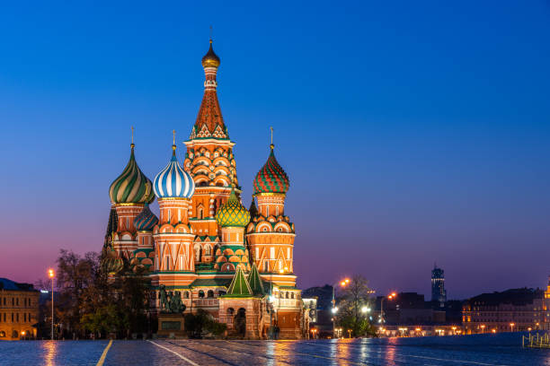 st. basil's cathedral in red square, moscow - 俄羅斯 個照片及圖片檔