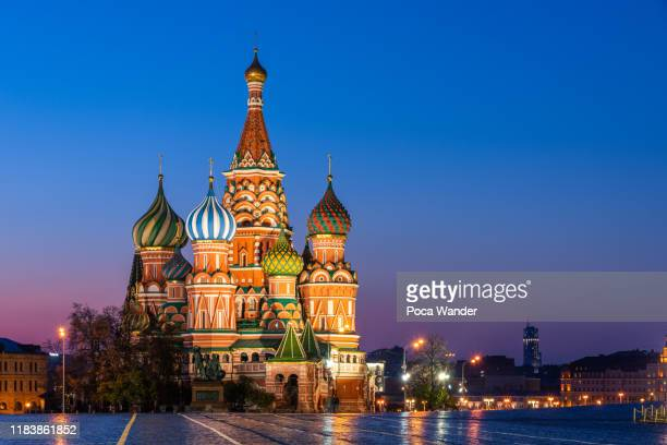 st. basil's cathedral in red square, moscow - moscow russia stock pictures, royalty-free photos & images