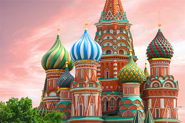 st. basil's cathedral in red square - moscow, russia - 俄羅斯 個照片及圖片檔