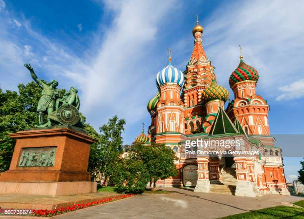 st basil's cathedral, in red square, moscow, russia - international soccer event stock pictures, royalty-free photos & images
