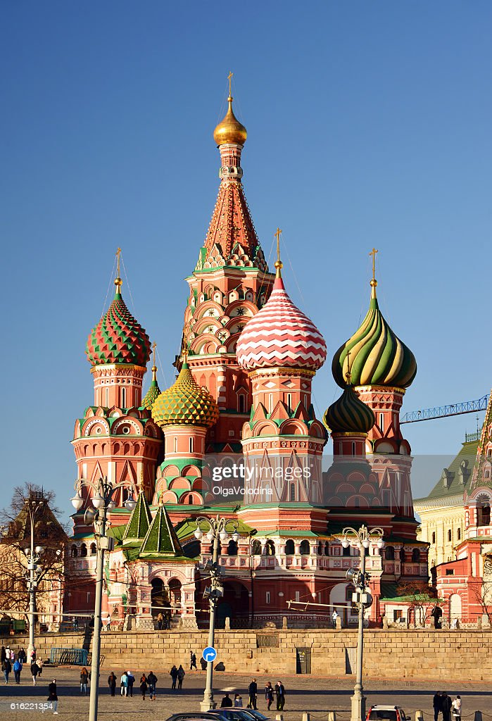 St. Basil's Cathedral on Red Square : Stock Photo