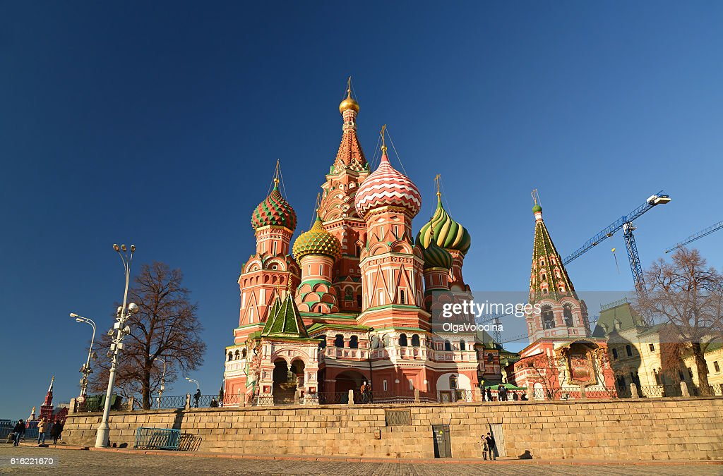 St. Basil's Cathedral on Red Square : Bildbanksbilder