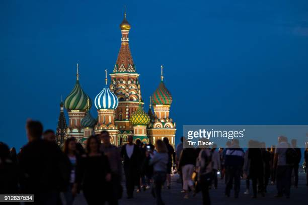 st basils in red square moscow - russian culture stock pictures, royalty-free photos & images