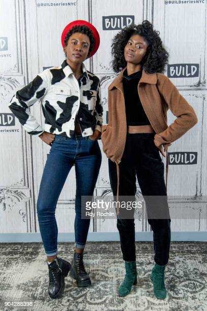 St Beauty members Alex Belle and Isis Valentino visit Build Series to discuss 'Running to the Sun' at Build Studio on January 12 2018 in New York City