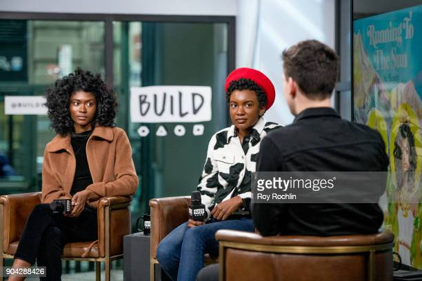St Beauty members Isis Valentino and Alex Belle visit Build Series to discuss 'Running to the Sun' at Build Studio on January 12 2018 in New York City
