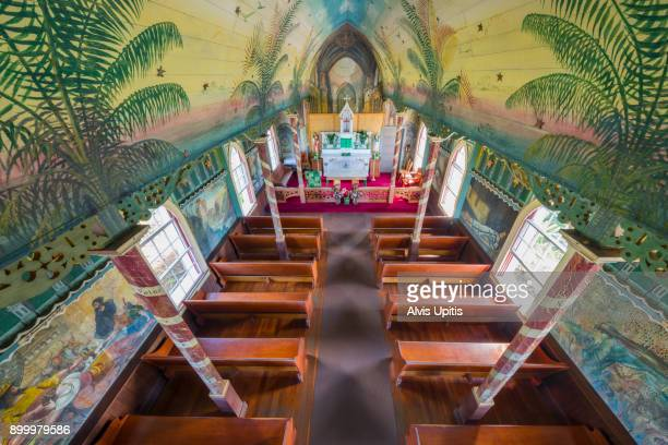 St. Benedict's Painted Church in Honaunau, Hawaii.