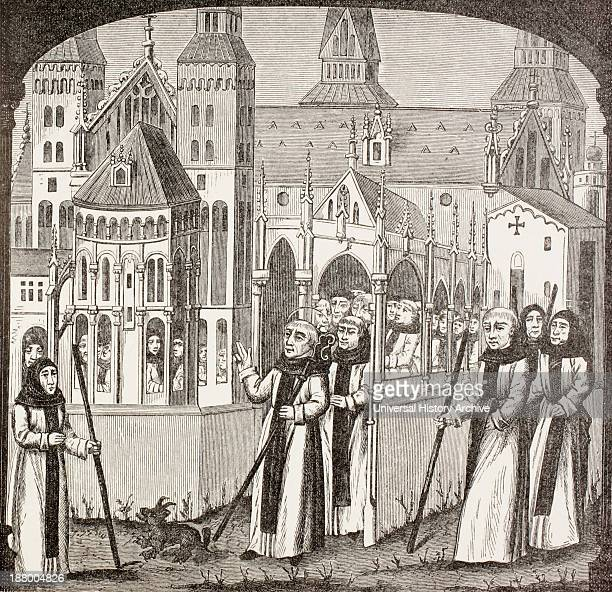 St. Bernard Of Clairvaux, 1090 – 1153, And The Cistercian Monks Taking Possession Of The Abbey Of Clairvaux. From Military And Religious Life In The...