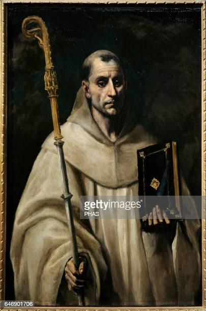 St Bernard of Clairvaux French abbot and reformer of the Cistercian order Portrait by the Spanish Renaissance painter El Greco The State Hermitage...