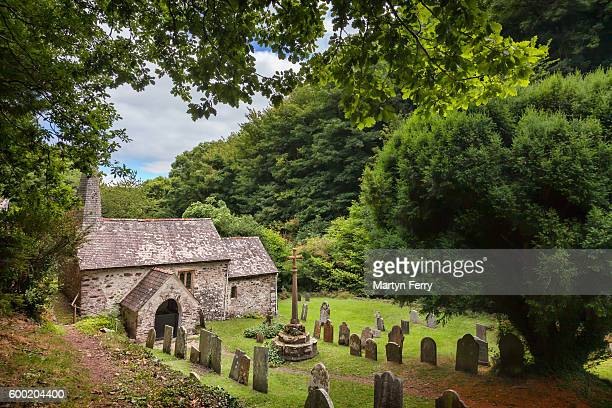 st. beuno's church, culbone, exmoor national park, somerset, uk - ポーロック ストックフォトと画像
