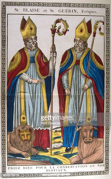 St Blaise and St Guerin 19th century St Blaise or Blasius Bishop of Sebaste Armenia was martyred in c316 St Guerin was a Swiss Benedectine monk who...