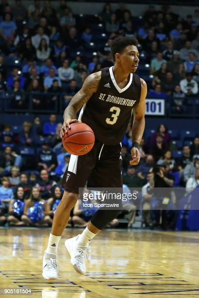 St Bonaventure Bonnies guard Jaylen Adams in action during a college basketball game between St Bonaventure Bonnies and Rhode Island Rams on January...