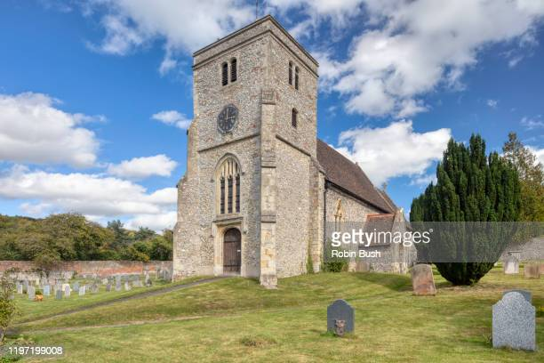 st botolph's church, bradenham, chiltern hills, buckinghamshire, england - ハイウィッカム ストックフォトと画像