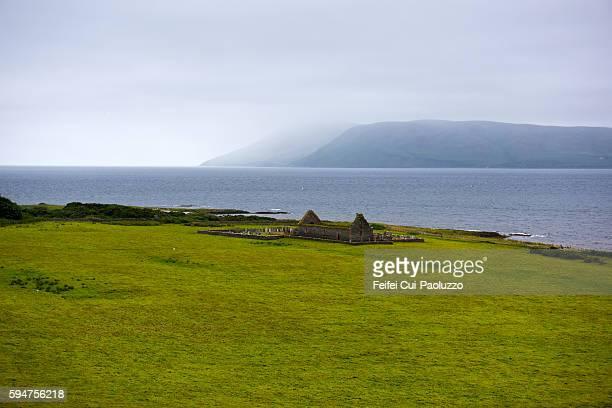 St Brendan's Chapel of Skipness Castle of Isle of Arran in Scotland