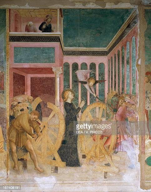 St Catherine among the wheels 14281431 details from Stories of St Catherine fresco by Masolino da Panicale Chapel of St Catherine Basilica of St...