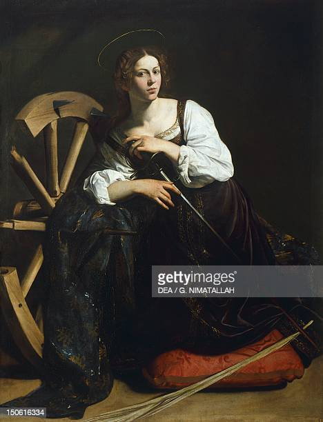St Catherine of Alexandria Michelangelo Merisi known as Caravaggio oil on canvas 173x133 cm