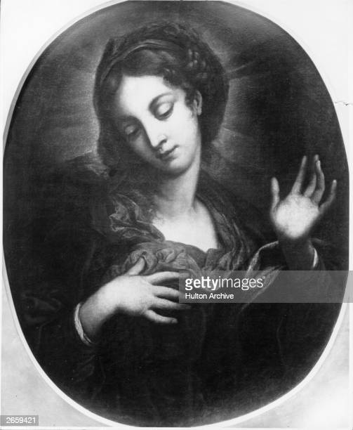 St Catherine of Siena or Catherina Benincasa circa 1370 Famed as Italian mystic and alledgedly stigmata the patron saint of Dominicans she was...