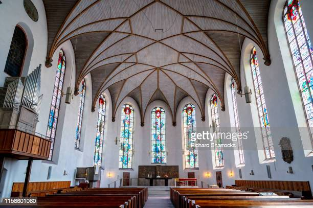 st catherine's church, frankfurt, germany - kirche stock-fotos und bilder