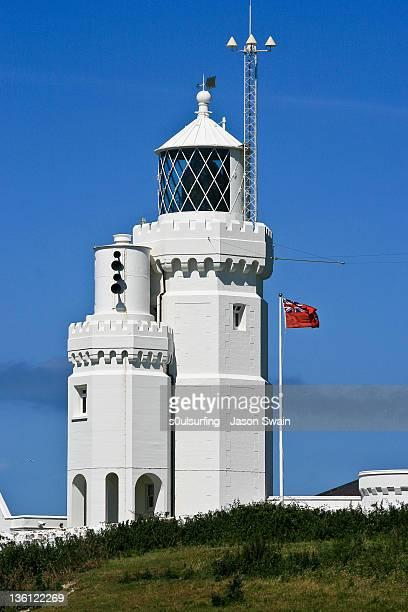 st catherines lighthouse at niton - s0ulsurfing stockfoto's en -beelden