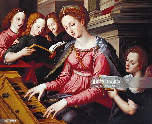 St Cecilia at the spinet by Sandro Botticelli school