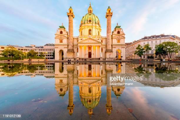 st charles church (karlskirche), vienna, austria - ウィーン ストックフォトと画像