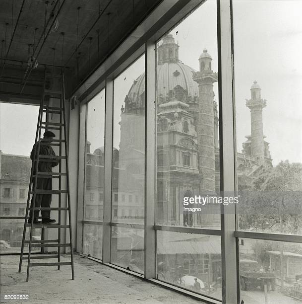 St Charles Church View on the St Charles Church seen from the Historic Museum Vienna one Year before the opening Vienna Photography 1959 [Karlskirche...