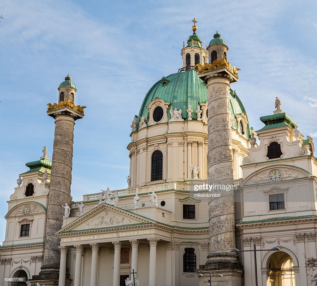 St. Charles's Church in Vienna Closeup : Stockfoto