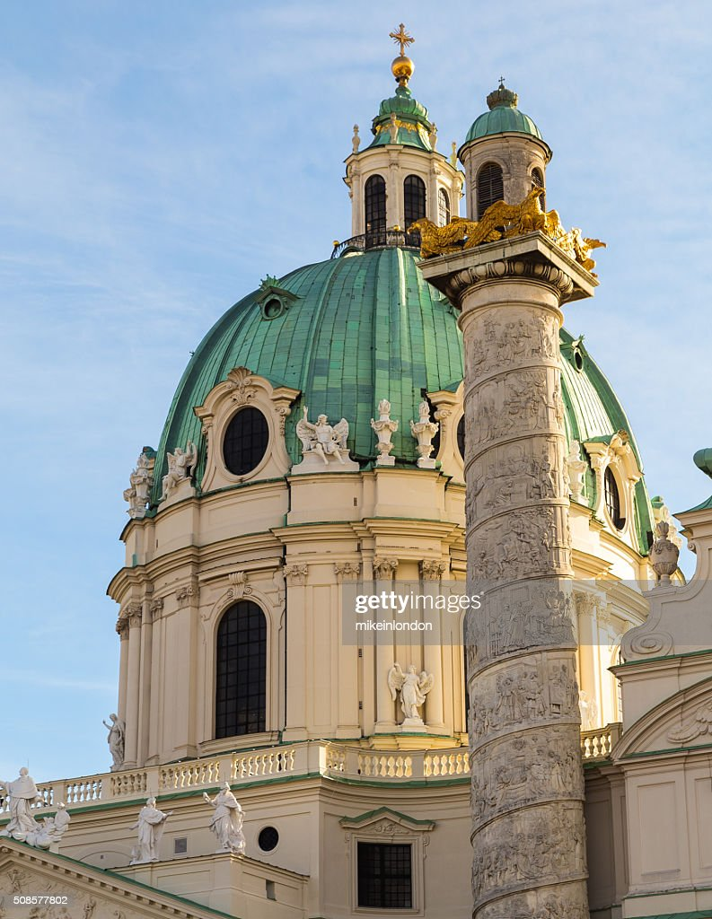 St. Charles's Church in Vienna Closeup : Stock Photo