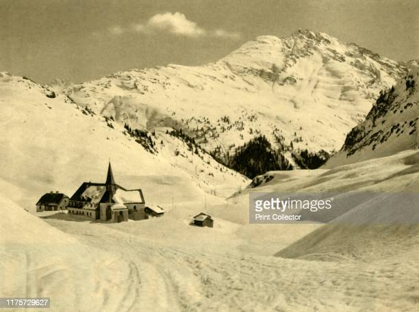 St Christoph am Arlberg Austria circa 1935 The village of Sankt Christoph is one of highest ski resorts in the Alps It is part of the Arlberg massif...