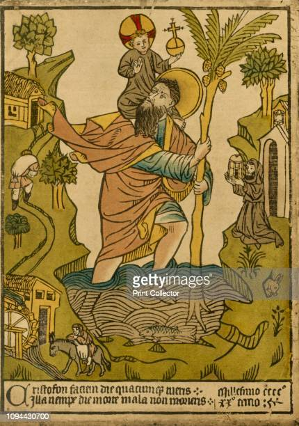 St Christopher 1423' 1915 St Christopher carrying Christ across the stream Legend has it that St Christopher was a 3rd century Canaanite giant whose...