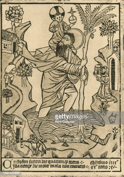 St Christopher 1423' St Christopher carrying Christ across the stream Legend has it that St Christopher was a 3rd century Canaanite giant whose task...