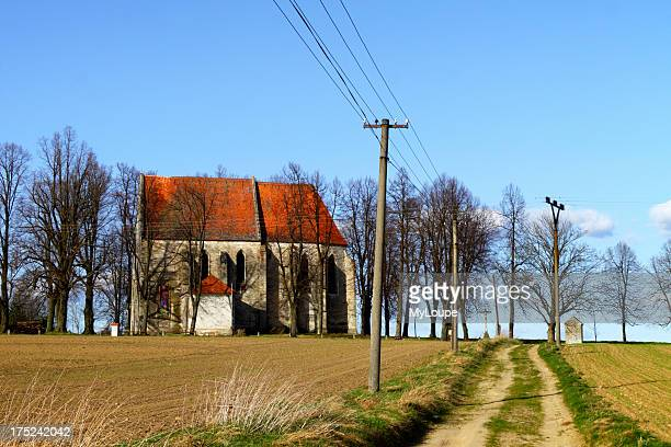 St Christopher church in the outskirts of Slavonice Czech Republic