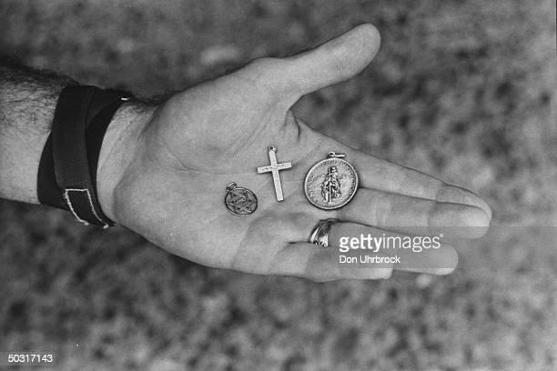St Christopher's Medal taken on Gemini flight by Astronaut Edward H White