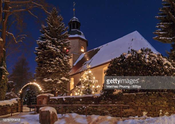 st. christopherus kirche in tannenberg - kirche stock pictures, royalty-free photos & images