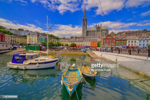 st colman's cathedral, cobh, county cork, ireland - ireland stock pictures, royalty-free photos & images