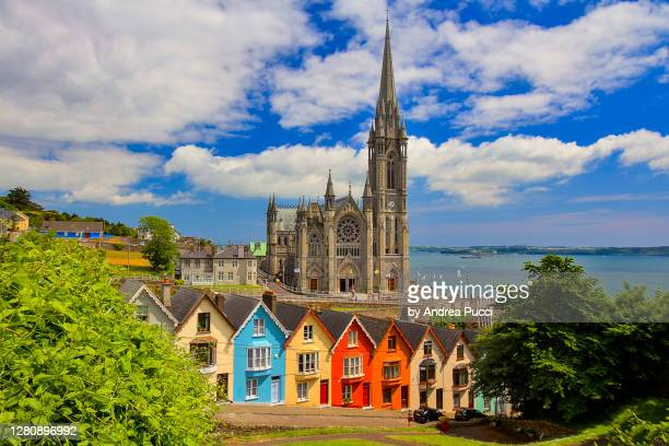 st colman's cathedral, cobh, county cork, ireland - place of worship stock pictures, royalty-free photos & images
