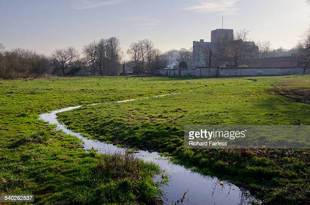 st cross in the itchen valley - winchester hampshire stock photos and pictures