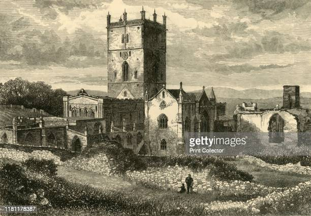 St David's Cathedral and the College from the NorthEast' 1898 Final resting place of Saint David Wales's patron saint the present cathedral was begun...