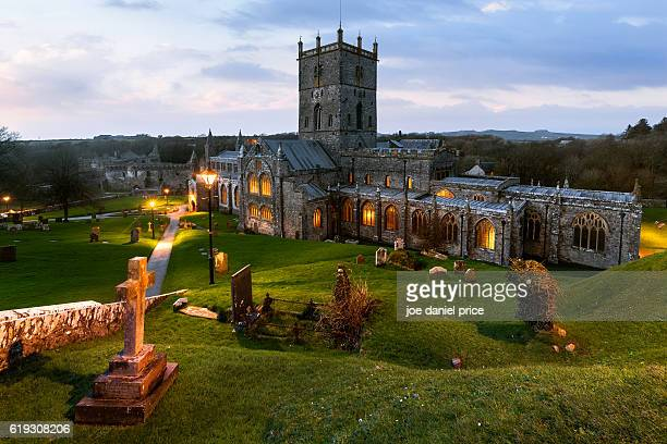 St David's Cathedral, Blue Hour, Pembrokeshire, Wales