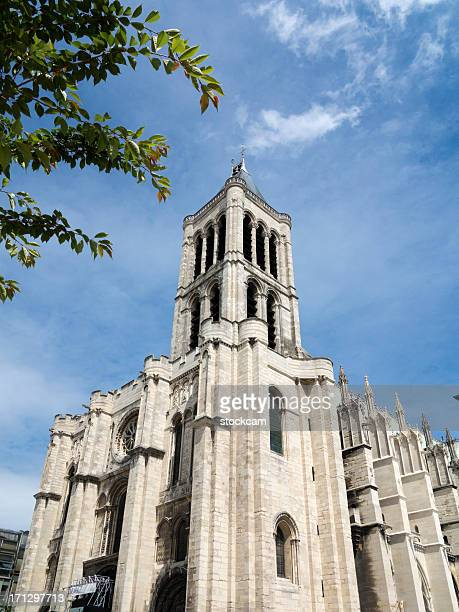 st. denis cathedral, paris france - basilica stock pictures, royalty-free photos & images