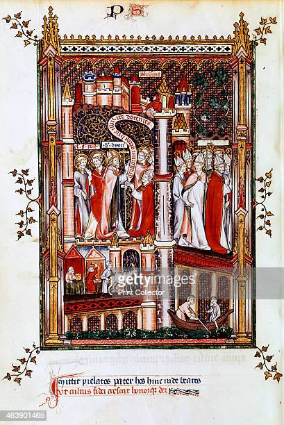 St Denis sends out missionaries 1317 St Denis accompanied by St Rusticus and St Eleutheriusm sends bishops and priests to evangelise Gaul Manuscript...