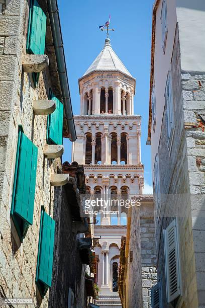 St. Domnius Cathedral Bell Tower, Stari Grad (Old Town), Split, Dalmatia, Croatia, Europe