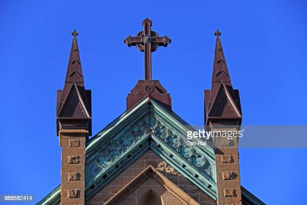 st. dunstan's basilica in charlottetown, prince edward island - christianity stock pictures, royalty-free photos & images