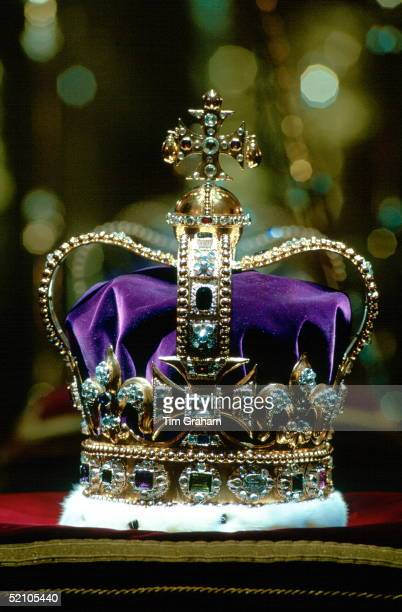 St Edward's Crown The Coronation Crown Of England The Crown Is Made Of Solid Gold And And Is Currently Set With 444 Semiprecious Stones Which Were...