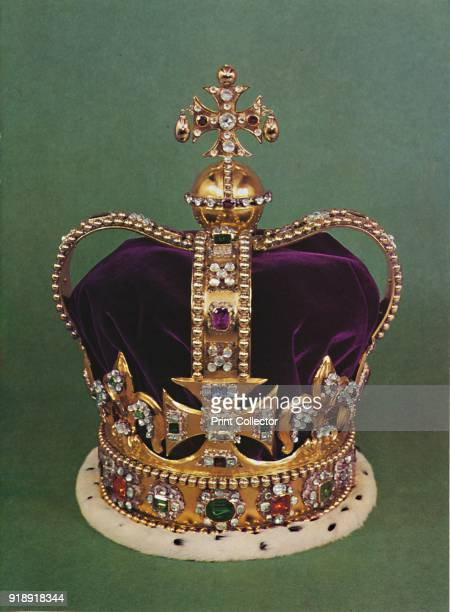 'St Edward's Crown with which the Sovereign is crowned' 1953 St Edward's Crown the official coronation crown of British monarchs and part of the...